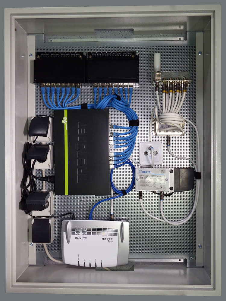 FH-SAT Heimvernetzung - Multimediaverteilschrank MMVT